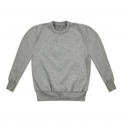 Kids's Crew Neck Fleece Sweatshirt in Grey Marl