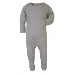 Baby Plain Chest Rompasuit in Grey Marl