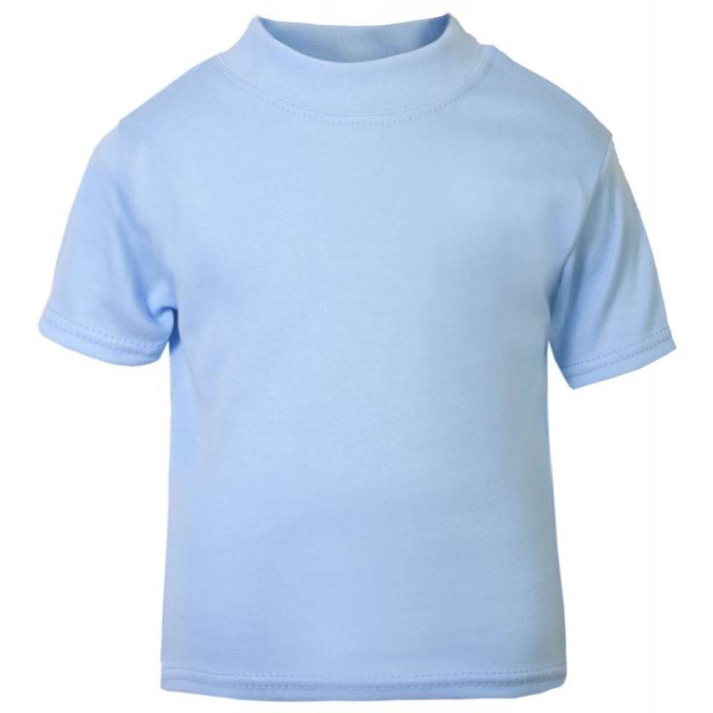 Baby and toddler blank short sleeve tee in light blue by Light blue t shirt mens