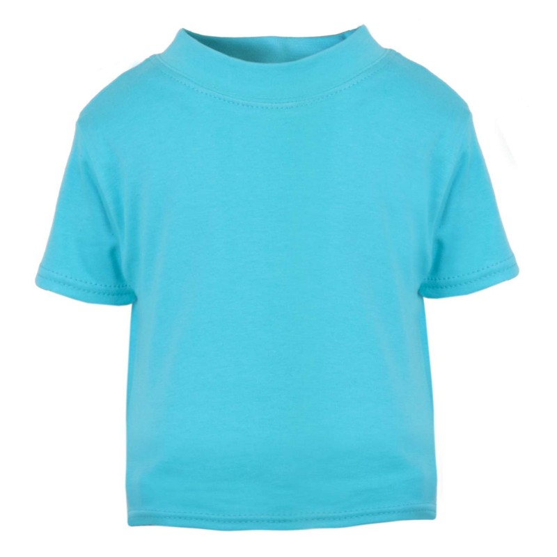 Baby And Toddler Blank Short Sleeve Tee In Turquoise By