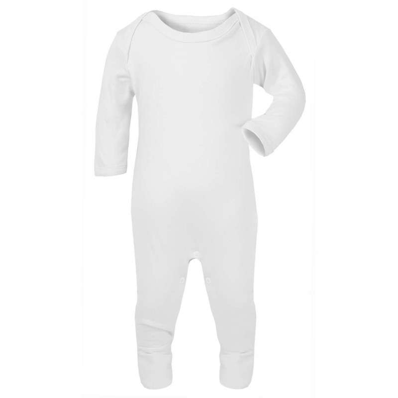 Baby Blanks Plain Chest Rompersuit In White By Kids