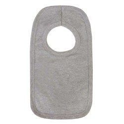 Blank Pull Over Bibs in Grey Marl
