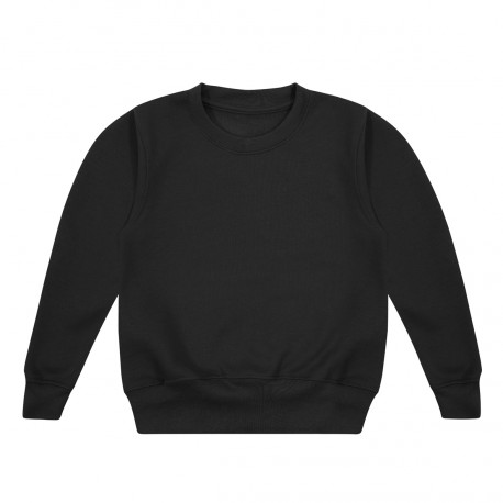 Kids's Crew Neck Fleece Sweatshirt in Black