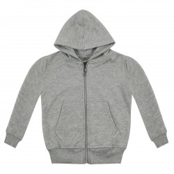 Kid's Zip Up Hoodie in Grey Marl