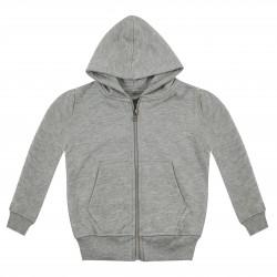 Kid's Zip Up Hoodie in Grey Marl