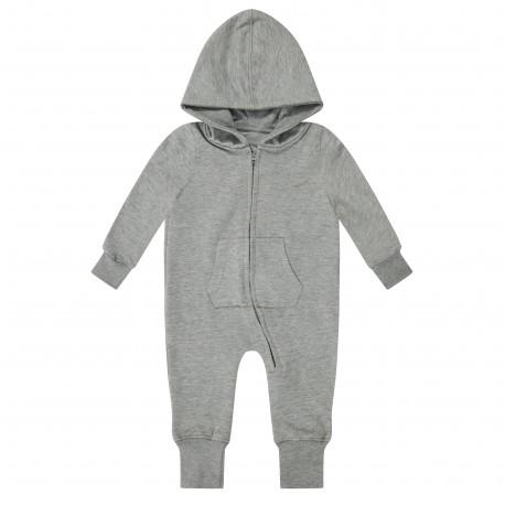 Baby/Toddler Fleece Onesie in Grey Marl