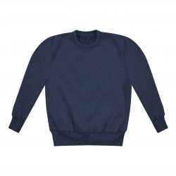 Kids's Crew Neck Fleece Sweatshirt in Navy