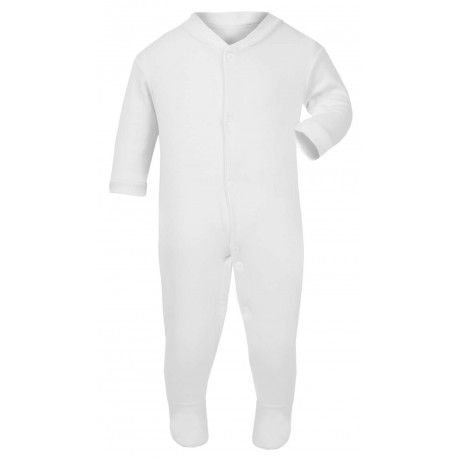 d5d799658 Baby Blanks Babygrow Sleepsuit in White by Kids Wholesale Clothing