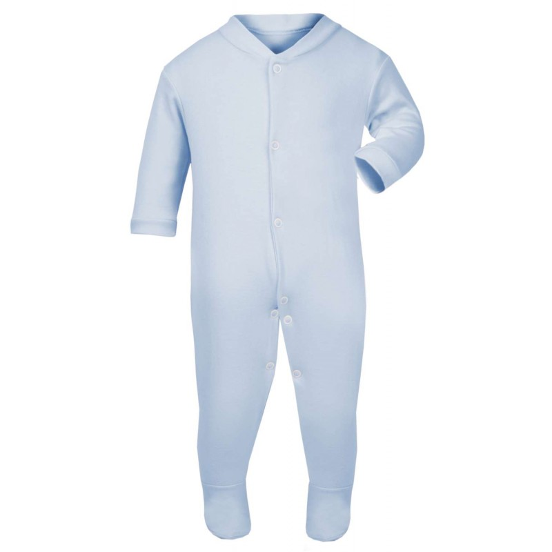 907d91b80 Baby Blanks Babygrow Seepsuit in Light Blue by Kids Wholesale Clothing