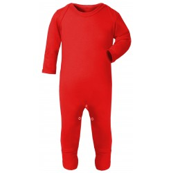 Baby Plain Chest Rompasuit in Red