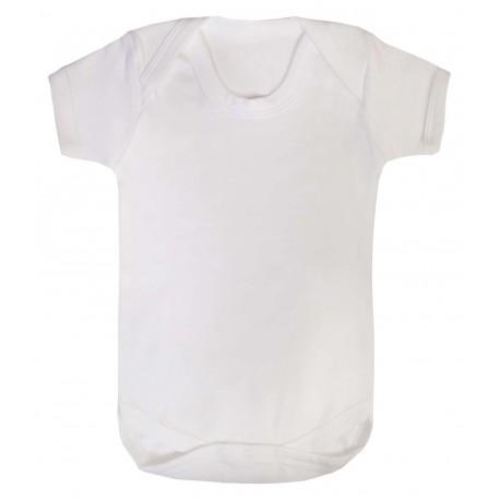 Baby Short Sleeve Bodysuit in White