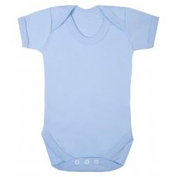 Baby Short Sleeve Bodysuit in Light Blue