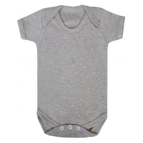 Grey Marl Baby Short Sleeve Bodysuit