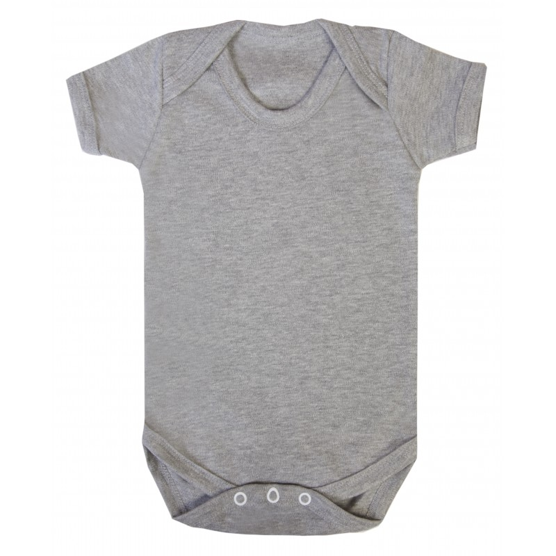 f9e99adb1347 Baby Blanks Short Sleeve Bodysuit in Grey Marl by Kids Wholesale ...