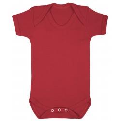 Red Baby Short Sleeve Bodysuit