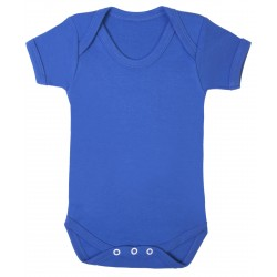 Royal Blue Baby Short Sleeve Bodysuit