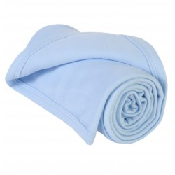 Light Blue Cotton Baby Blankets/Shawls