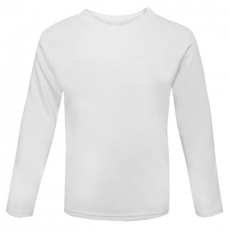 Baby and Toddler Blank Long Sleeve T-Shirt in White