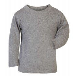 Baby and Toddler Blank Long Sleeve T-Shirt in Grey
