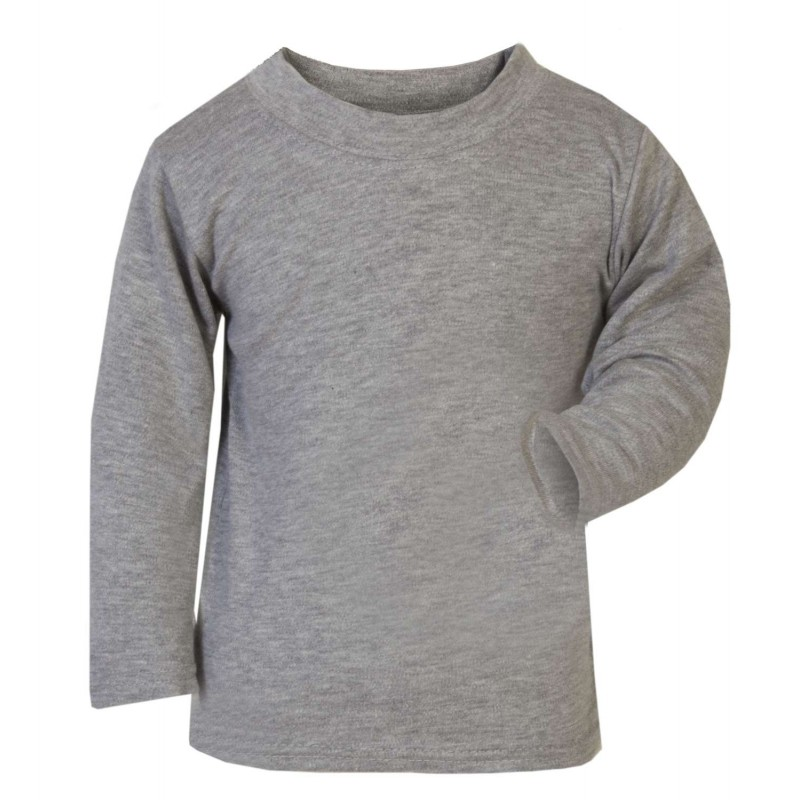 93d60d30 Baby and Toddler Blank Long Sleeve T-Shirt in Grey by Kids Wholesale ...
