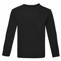 Baby and Toddler Blank Long Sleeve T-Shirt in Black