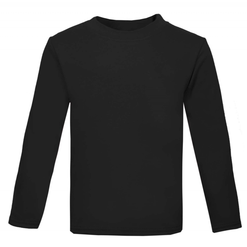 Baby and toddler blank long sleeve t shirt in black by for Long sleeve black tee shirts