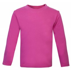 Baby and Toddler Blank Long Sleeve T-Shirt in Cerise