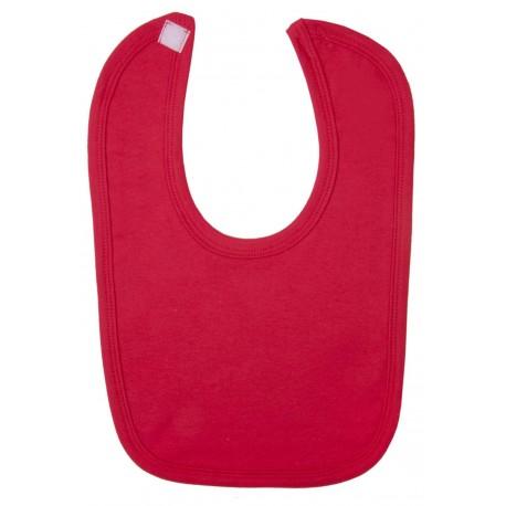 Blank Velcro Fastening Bibs in Red