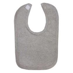 Blank Velcro Fastening Bibs in Grey Marl