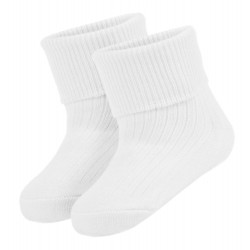 Baby Blank Turn Over Socks (White)