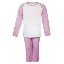 Pink Long Raglan Sleeve Pyjama Set