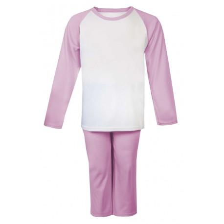 Pink Long Raglan Sleeve Pyjama Set