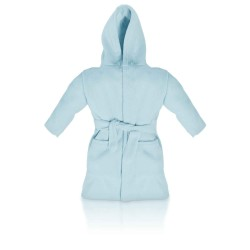 Blank Baby Bath/Dressing Gown in Light Blue