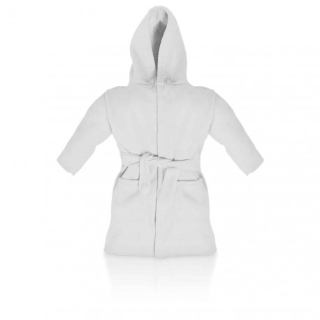 Blank Baby Bath/Dressing Gown in White