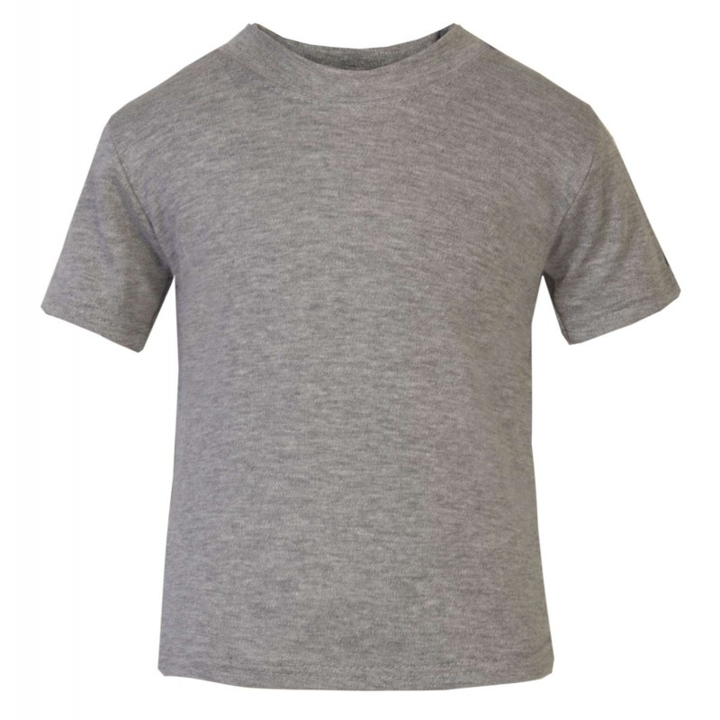 baby and toddler blank short sleeve tee in grey marl by