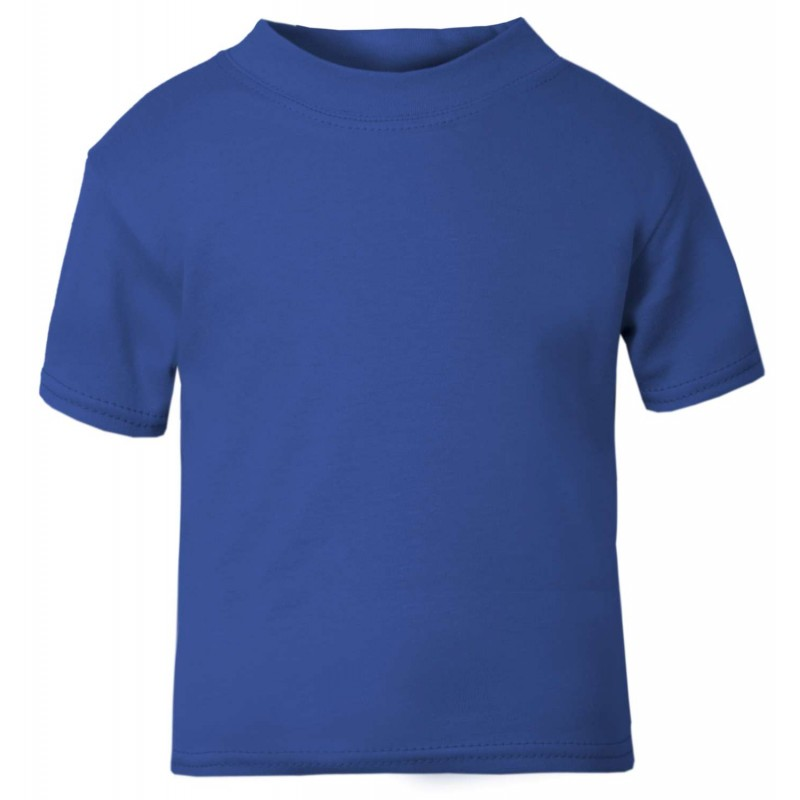 Baby And Toddler Blank Short Sleeve Tee In Royal Blue By