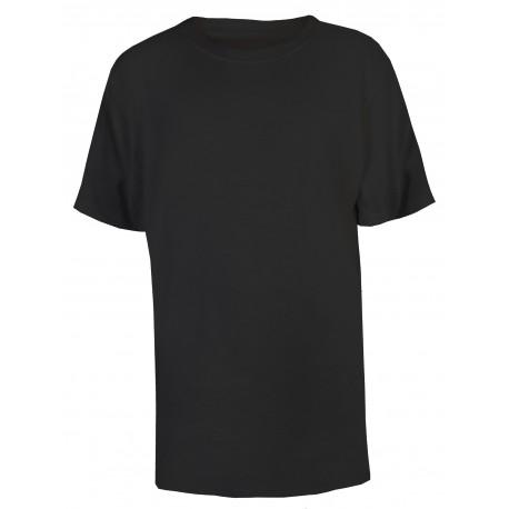 Boy's Crew Neck T-Shirt in Black