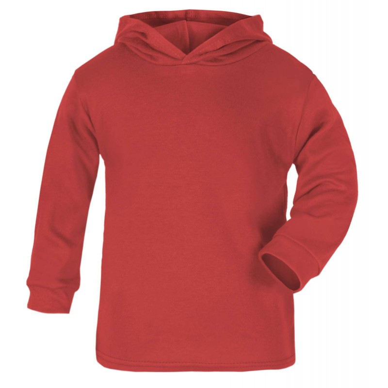 601d1a2eb6 Blank Baby Cotton Hoodie in Red by Kids Wholesale Clothing