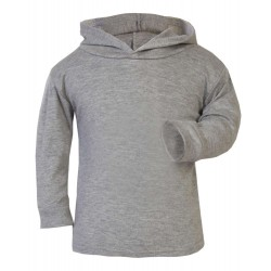 Grey Marl Cotton Hoodies