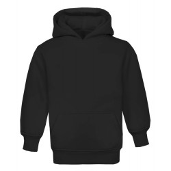 Kid's Pull On Hoodie in Black