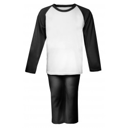 Black Long Raglan Sleeve Pyjama Set