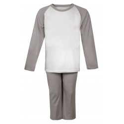 Grey Long Raglan Sleeve Pyjama Set