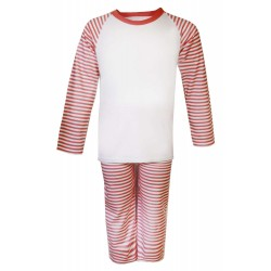 Red Stripe Long Raglan Sleeve Pyjama Set