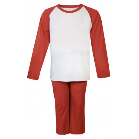 Red Long Raglan Sleeve Pyjama Set