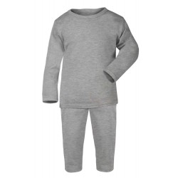 Grey Baby Long Sleeve Pyjama Set