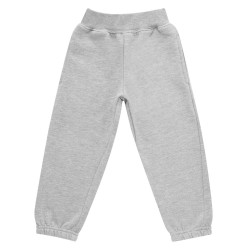 Kids Fleece Joggers in Grey