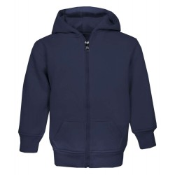 Kid's Zip Up Hoodie in Navy
