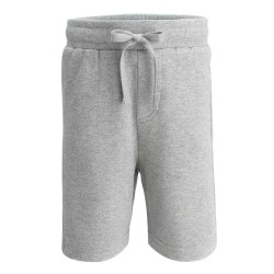 Cotton Shorts in Grey Marl