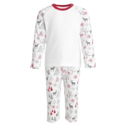Christmas Baby Long Sleeve Pyjama Set in Red and Green Contrast
