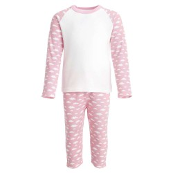 Pink Cloud Print Pyjama Set
